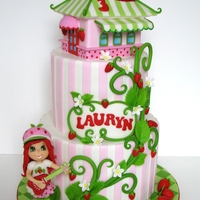"Strawberry Shortcake I've always wanted to make a cake based on this character, so was very happy to be asked to make one! What an adorable theme! 8""/..."