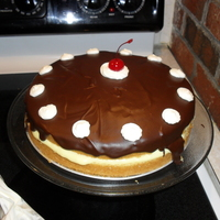 Boston Cream Pie This Boston Cream Pie is one yellow cake layer cut in to two layers. It is filled with 1 mix of vanilla pudding, and topped with chocolate...