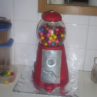 Gumball /candy Cake rice crispy gumball machine & candy cake
