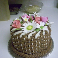 Flower Cake   donated to my daughters school
