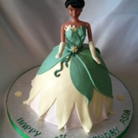 Princess Tiana For a 1st birthday. Really happy with the way this one turned out as it was my 1st. Took a long time though to get the details just right...