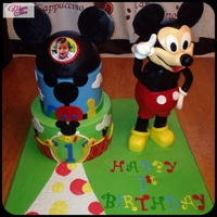 Mickey Mouse Cake I Made For My Grandson 1St Birthday Mickey Mouse Is All Edible Ricekrispise Treats Mickey Mouse cake I made for my grandson 1st birthday ,Mickey Mouse is all edible Ricekrispise treats