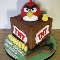 Angry Birds Cake Inspired by a cake by The Royal Bakery