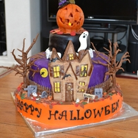 Halloween Haunted House Cake