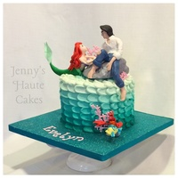 Little Mermaid Cake Featuring Disney Princess Ariel And Prince Eric With Sebastian And Flounder In Gum Paste Fondant And Modeling Chocolate... Little Mermaid cake featuring Disney Princess Ariel and Prince Eric with Sebastian and Flounder in gum paste, fondant and modeling...