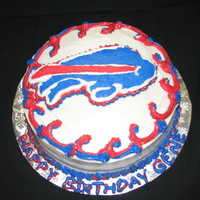 Buffalo Bills Birthday Cake Here is a FBCT of a Buffalo Bills logo I made on extremely short notice. It is not my best work, but it wasn't a paid cake so I guess...