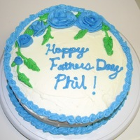 Fathers Day Cake I made this cake for my Husband for Fathers day. I need work still but it's coming along nicely I think. I am by no means an expert.