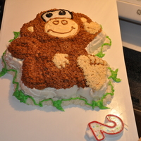 Monkey Cake This is my first attempt at decorating. And unfortunately I did it the morning of the party so I was very rushed. I had a lot of fun and...