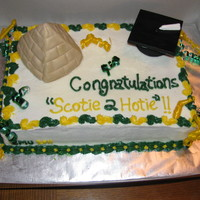 Gmu Graduation Cake Southern Red Velvet cake with cream cheese frosting. This was for a GMU Graduate who wanted a pyramid on his cake since he visited Egypt...