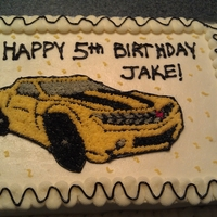 Bumblebee Transformer Cake I made this for my son's 5th birthday. He is a Transformer nut!