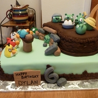 Angry Birds Recreated a cake design for a client. Design credit for this goes to Anya Richardson. My customer really liked the cake and asked me to...