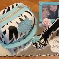 A Few Of Rachel's Loves For my step son's girlfriend on her 15th birthday. She loves zebra stripes, the color blue and of course....my step son. LOL