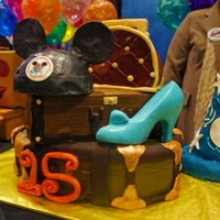 Disney Luggage Cake