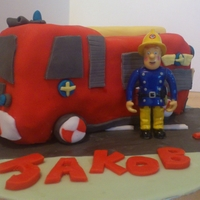 Fireman Sam Engine Cake