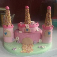 Princess Castle Cake   A gorgeous princess castle cake, inspired by a cake from flickr