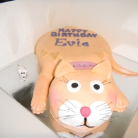 "Ginger Cat Birthday Cake All she wanted was an ""orange"" cat...."