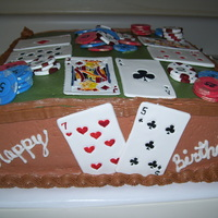 75Th Birthday   Poker cake for my dad for his 75th birthday.