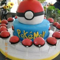 Pokemon Cake My sons 6th birthday cake. Really simple, but hey, haha i'm 38 weeks pregnant and have spent the last two days making two cakes, 3...