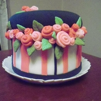 Hatbox Cake unfortunatly, the quality of the picture doesn't do it justice. it was so much cuter in person!