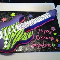 Six String Guitar Cake All cake and fondant