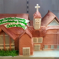 Replica Of A Church That Was Expanding Their Church Church Theme Cake