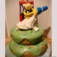 Simpson's Theme Groom's Cake
