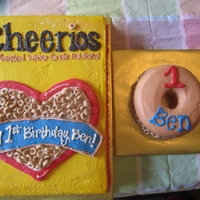 "Cheerio First Birthday 1/4 Sheet Vanilla with Vanilla Buttercream6"" Smash Cake"