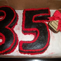 The Number 35 Birthday Cake