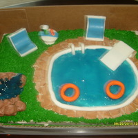 Another Pool Party Cake thanks to the pool party cakes on cc for the inspiration.