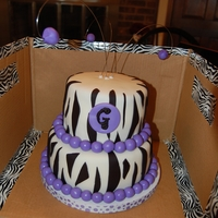 Gracie's Zebra Birthday Cake
