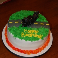 Motorcycle Birthday Cake