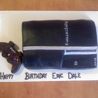 Eric's Ps3   3D Playstation 3 Cake