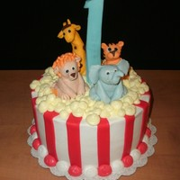 Maddox's Carnival Animals carnival animals cake