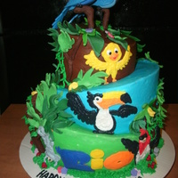 Nana's Rio   topsy turvy rio the movie cake