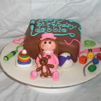 Occupational Therapist's Birthday Cake I made this cake for my daughter's therapist's birthday. I included some of the toys that she brings to the house every week. The...
