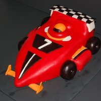 Race Car chocolate cake with buttercream and fondant.