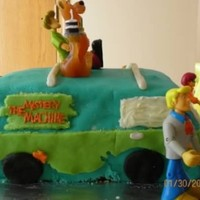 Scooby Doo Cake This is the Scooby Doo cake i made for my daughter. I used mmf. It was my first time working with fondant so its not super good. The...