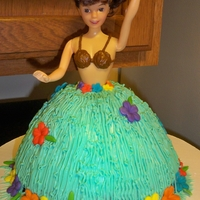 Hula Girl! A hula girl i made for my daughters 5th birthday. We did a luau theam.