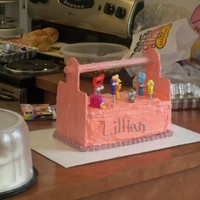 Handy Manny Cake This is a tool box cake I made for my youngest daughter's 2nd birthday. She had a Handy Manny theme.