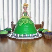 Tinkerbell Tinkerbell cake I made for my oldest daughter's 4th birthday!