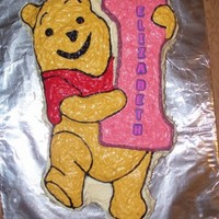 Winnie The Pooh I made this cake for my oldest 1st birthday.
