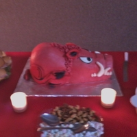 Arkansas Razorback Groom's Cake Here is one of the Razorback groom's cakes I have done. Its also great for birthdays or anytime you need a little more Hog in your...