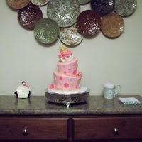 Topsy Turvy Cuppy Cake Princess Cake  The lovely chick that takes care of all our girly hair and nail needs asked me to make her daughter's birthday cake - 1st birthday, at...