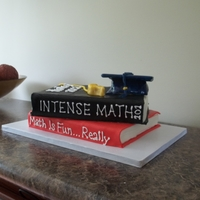 Future Math Teacher Cake  This young lady is going on to pursue a degree in Math Education and also hopes to coach volleyball. She has quiet the humorous personality...