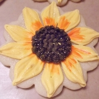 Sunflower And Pig Cookies I made these for the wedding shower of a very special young lady - she was a young girl who babysat my daughter for me, helped me raise her...