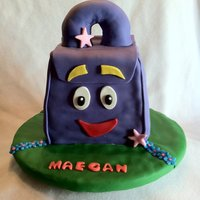 Dora Backpack Cake