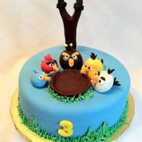 Angry Birds Cake made for little boy's 3rd birthday