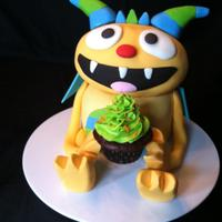 Henry Hugglemonster *My son's new favorite show is Henry Hugglemonster on Disney Jr. So we made this cake for him today for his 3rd birthday! A few...