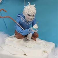 Jack Frost Birthday Cake Jack Frost Cake and Dessert table I made for my son's Birthday Party. The cake is a 10 inch chocolate square cake topped with a...