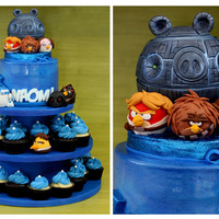 Star Wars Angry Birds Star Wars Angry Birds for a lovely friend. All fondant. Thank you for looking !!! Blessings.